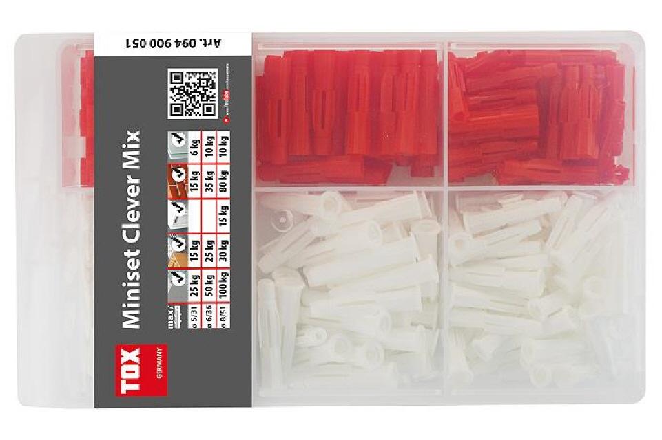 6//36 und 8//51 5//31 Tox Dübel Tri /& Trika Miniset Clever Standard Sortiment Inh